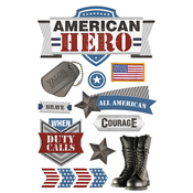 American Hero 2 Paper House 3D Stickers