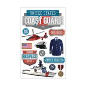 Us Coast Guard Paper House 3D Stickers