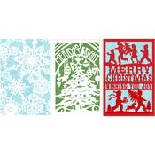 Merry Home For Christmas Laser Die Cut Cards