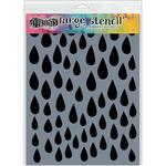 "Raindrops - Dyan Reaveley's Dylusions Stencils 9""X12"""