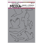 "Flying Birds Masks - Dina Wakley Media Stencils 9""X6"""