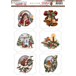 Christmas Greetings - Find It Trading Amy Design Topper Sheet