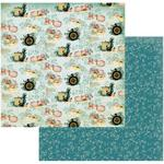 Deep Seas & Whirling Winds Paper - Sea Breeze - Couture Creations