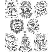 Doodle Greetings Tim Holtz Cling Stamps