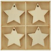 Stars Wood Flourish Pack 20/Pkg