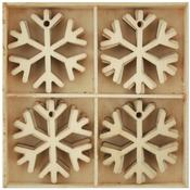 Snowflakes Wood Flourish Pack 20/Pkg