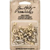 Silver & Gold Jingle Bells Idea-Ology Brad Fasteners - Tim Holtz