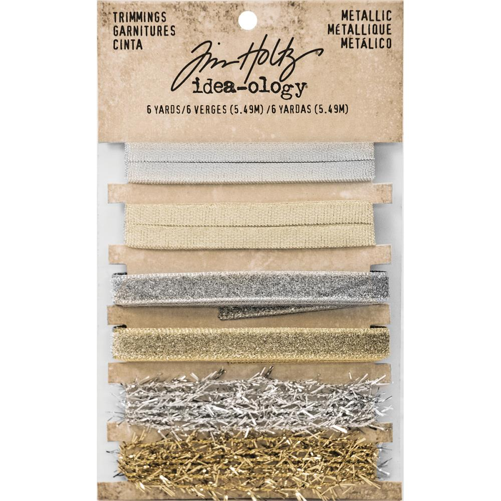Gold & Silver Idea-Ology Metallic Trimmings - Tim Holtz
