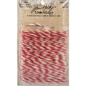 Christmas Red & Cream Idea-Ology Jute String - Tim Holtz