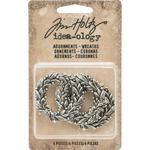 Antique Nickel Wreaths Idea-Ology Metal Adornments - Tim Holtz