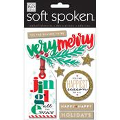 Very Merry Soft Spoken Themed Embellishments
