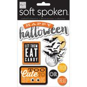 Eat Candy Soft Spoken Glittered Themed Embellishments