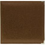 """Dark Chocolate - We R Classic Leather 3-Ring Album 8.5""""X11"""""""