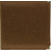 "Dark Chocolate - We R Classic Leather 3-Ring Album 8.5""X11"""