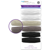 Black & White Mix - Mulitpurpose Colored Craft String 29.5'/Pkg