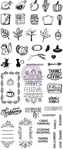 Fall Clear Stamps My Prima Planner