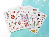 Julie Nutting Clear Matte Stickers - My Prima Planner