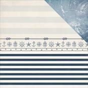 Sailor 12x12 Paper - High Tide - KaiserCraft