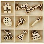 Party Mini Wooden Flourishes - KaiserCraft