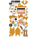 Golden Days Designer Puffy Stickers - Fancy Pants
