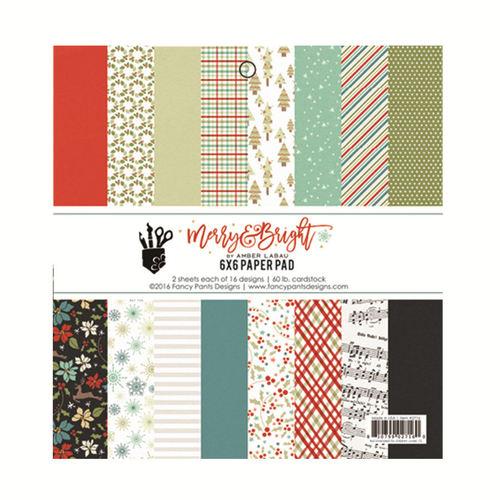 Merry & Bright 6 x 6 Paper Pad - Fancy Pants
