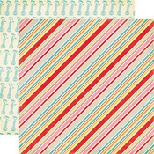 Pastry Stripes Paper - Happiness Is Homemade - Echo Park
