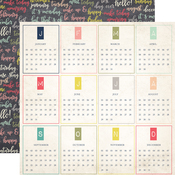 Months Of The Year Paper - Everyday Memories - Echo Park