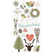 Winter Wonderland Chipboard Stickers - Simple Stories
