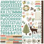 Winter Wonderland Sticker Sheet - Simple Stories