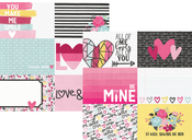 4 x 6 Horizontal Journaling Card Paper - Love & Adore - Simple Stories