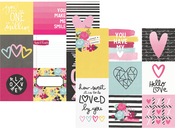 4 x 4 & 4 x 6 Vertical Journaling Card Paper - Love & Adore - Simple Stories