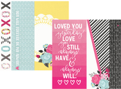2 x 12, 4 x 12 & 6 x 12 Journaling Card Paper - Love & Adore - Simple Stories