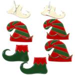 Elf - Eyelet Outlet Shape Brads 12/Pkg
