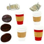 Coffee - Eyelet Outlet Shape Brads 12/Pkg