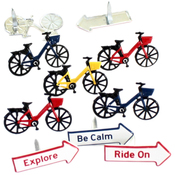Bicycle - Eyelet Outlet Shape Brads 12/Pkg