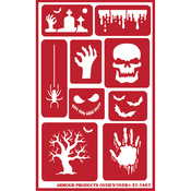 "Halloween - Over 'N' Over Reusable Stencils 5""X8"""