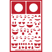 "Emojis - Over 'N' Over Reusable Stencils 5""X8"""