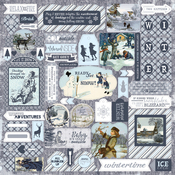 Wintery Cardstock Sticker Sheet - Authentique