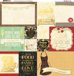 Kiss The Cook Foil Vellum Paper - Bo Bunny
