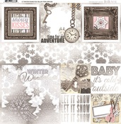 Winter Wishes Foil Vellum Paper - Bo Bunny