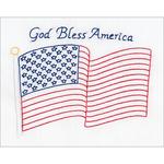 """God Bless America - Stamped White Sampler 8""""X10"""""""