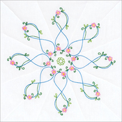 "Infinity Star - Stamped White Quilt Blocks 18""X18"" 6/Pkg"