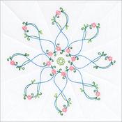 "Infinity Star - Stamped White Quilt Blocks 18""X18"" 6/Pkg"