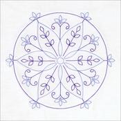 "Simple Mandala - Stamped White Quilt Blocks 18""X18"" 6/Pkg"