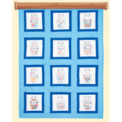 "Craft Jars - Themed Stamped White Quilt Blocks 9""X9"" 12/Pkg"
