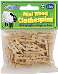 "Natural 1"" 45/Pkg - Mini Wood Clothespins"