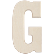 G - Baltic Birch University Font Letters & Numbers 5.25""
