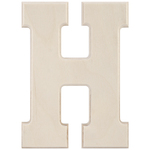 """H - Baltic Birch University Font Letters & Numbers 5.25"""""""