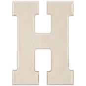 H - Baltic Birch University Font Letters & Numbers 5.25""