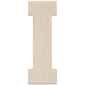 I - Baltic Birch University Font Letters & Numbers 5.25""
